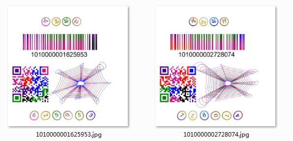 标签图片输出 标签图片导出 唯一码图片导出