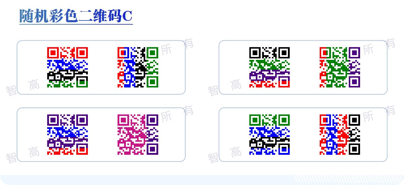 数码印刷 防伪印刷 输出软件 可辨色二维码