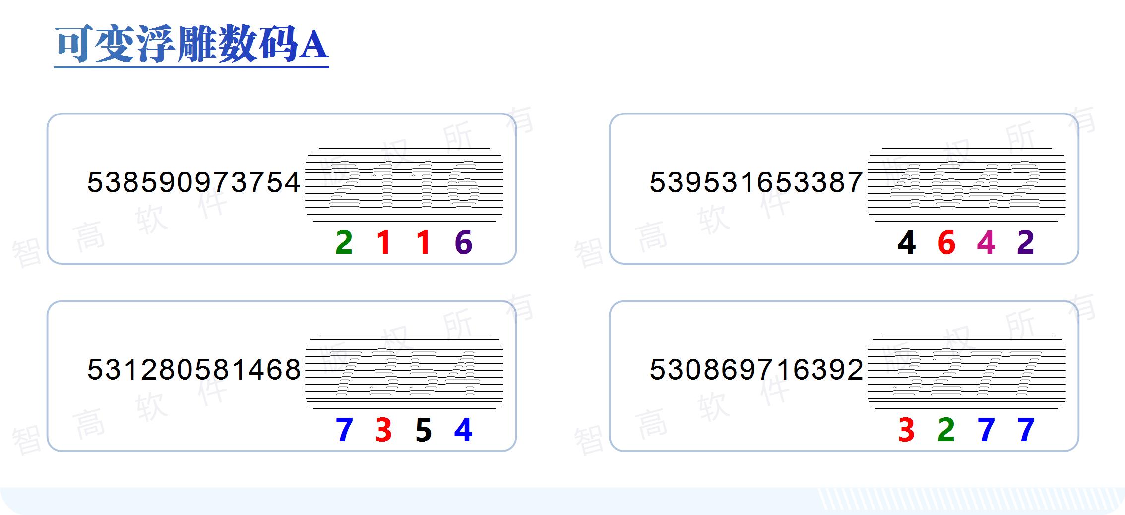 数码印刷 防伪印刷 输出软件  可变动浮雕超线数码